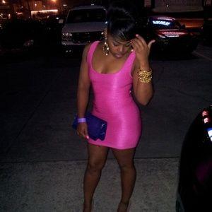 Hot Pink BEBE Dress